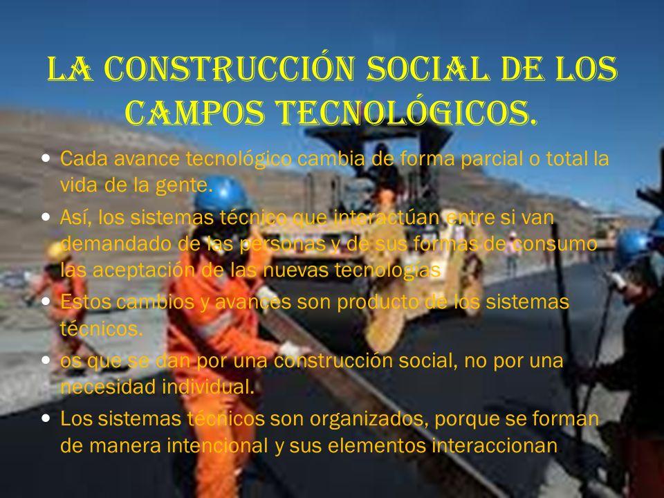 La construcción social de los campos tecnológicos.
