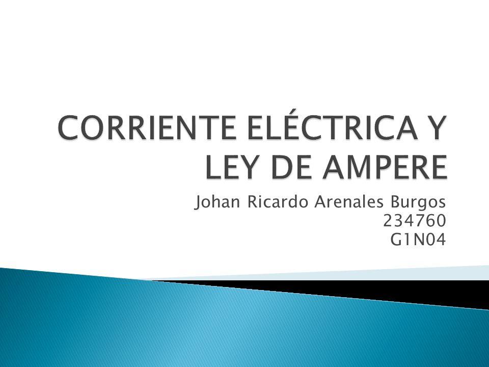 CORRIENTE ELÉCTRICA Y LEY DE AMPERE