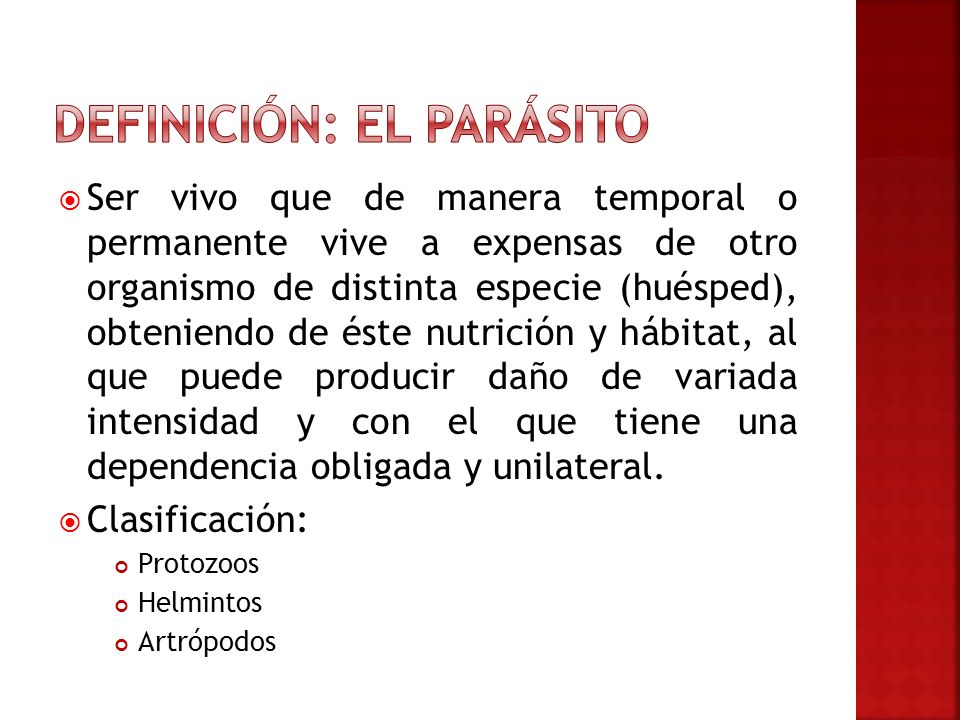 Definición: El parásito