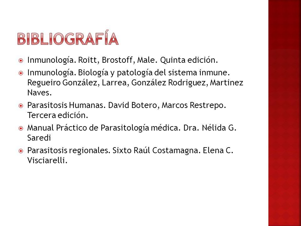 Bibliografía Inmunología. Roitt, Brostoff, Male. Quinta edición.