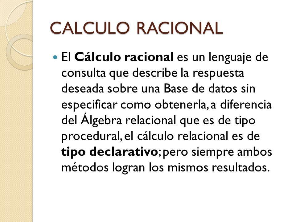 CALCULO RACIONAL