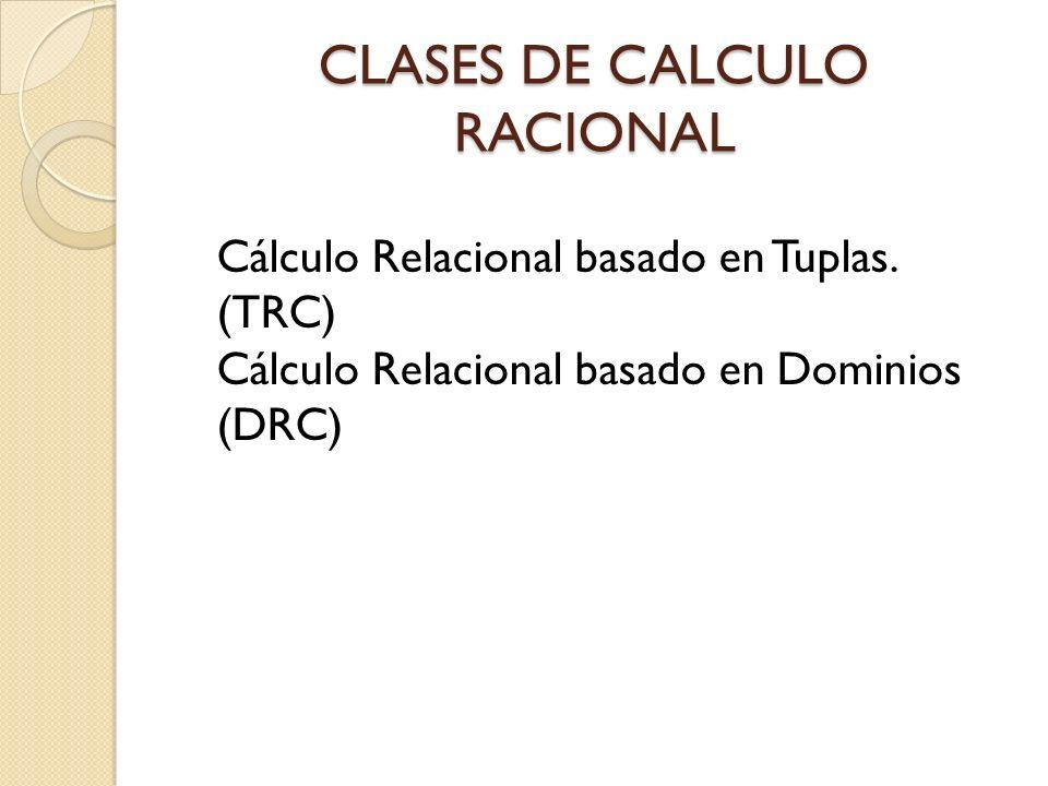 CLASES DE CALCULO RACIONAL