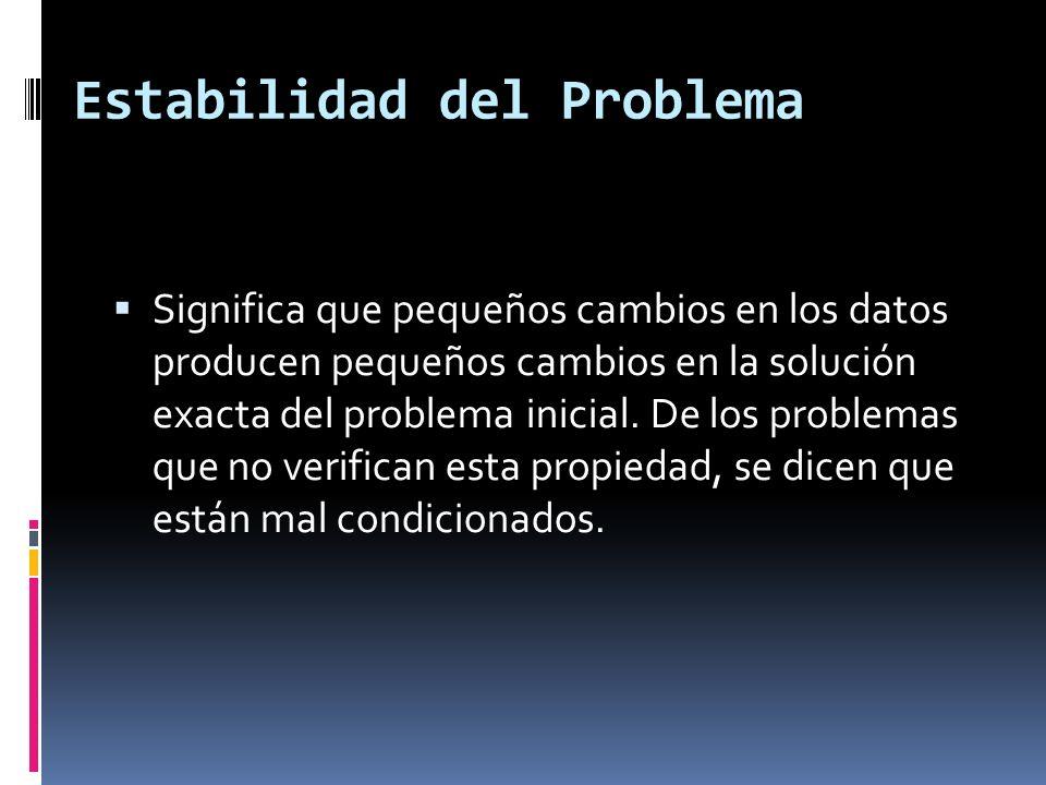 Estabilidad del Problema