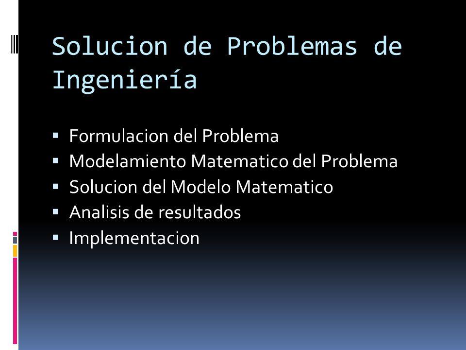 Solucion de Problemas de Ingeniería