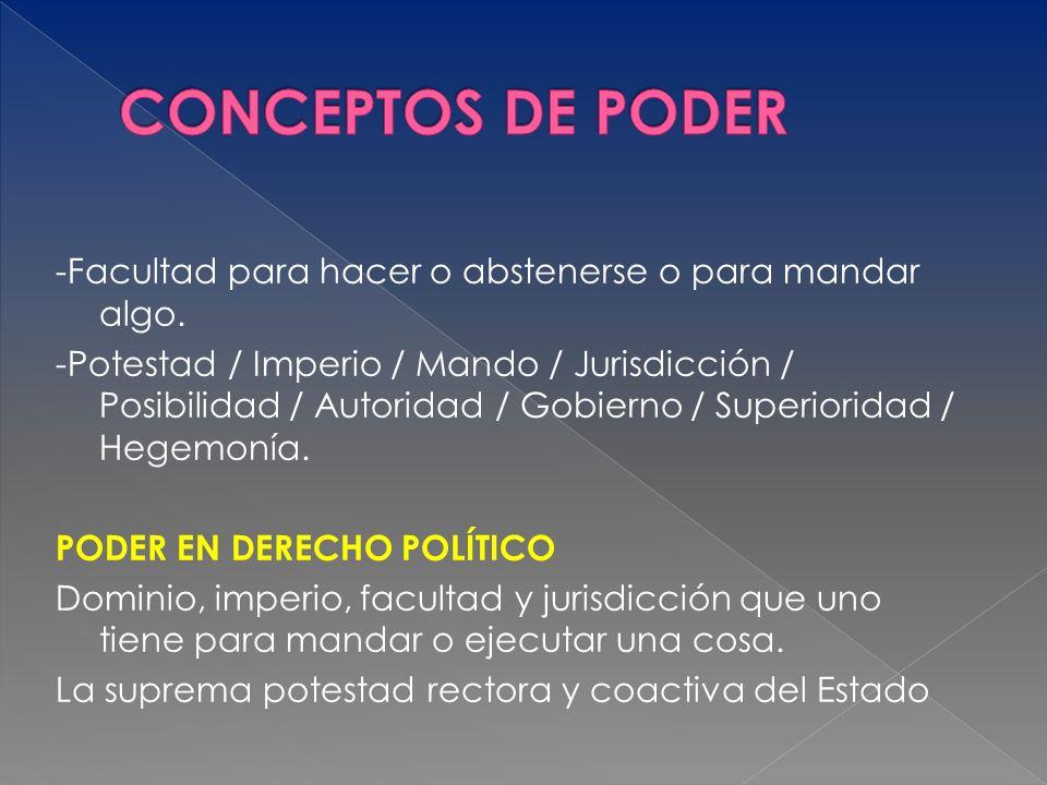 CONCEPTOS DE PODER