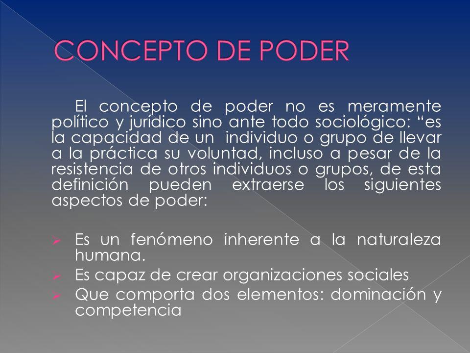 CONCEPTO DE PODER