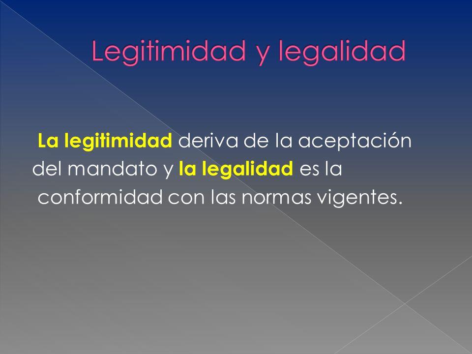 Legitimidad y legalidad