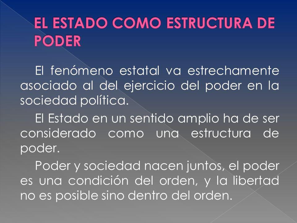 EL ESTADO COMO ESTRUCTURA DE PODER