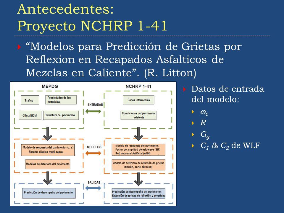 Antecedentes: Proyecto NCHRP 1-41