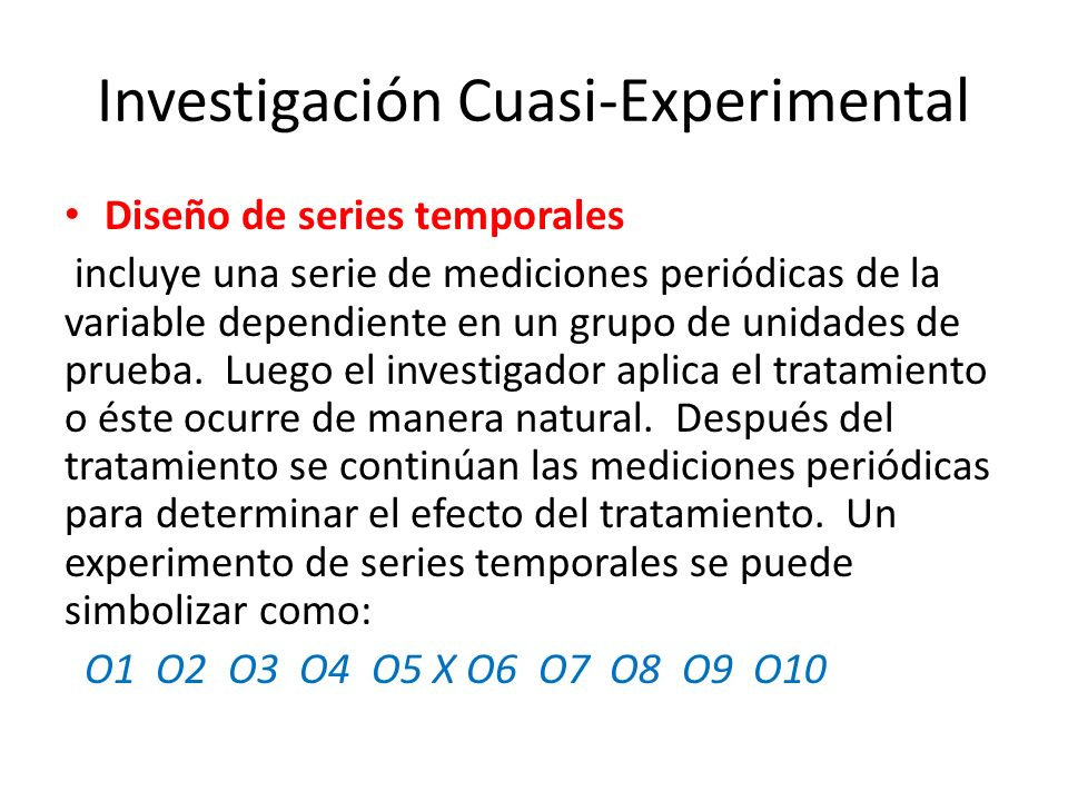 Investigación Cuasi-Experimental