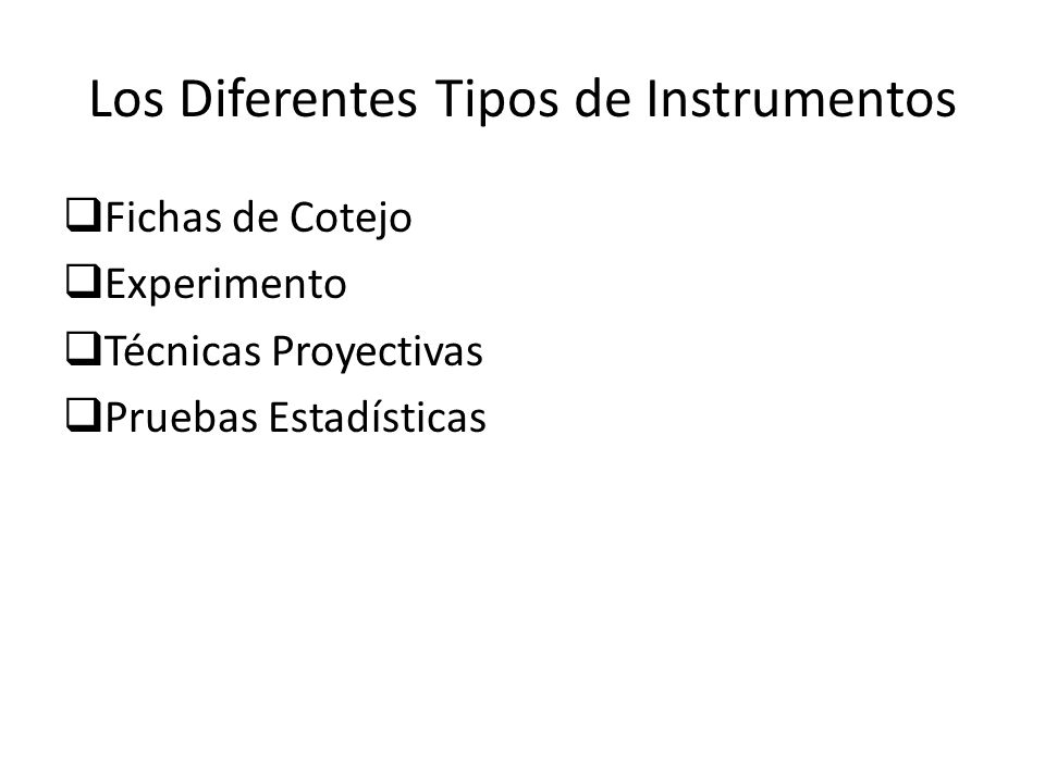 Los Diferentes Tipos de Instrumentos