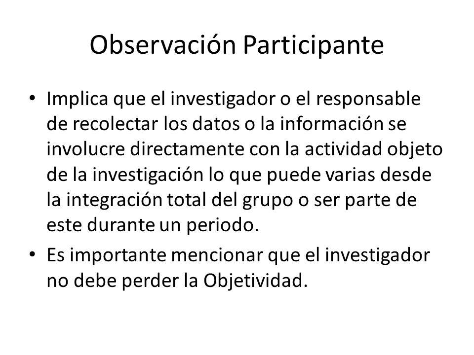 Observación Participante