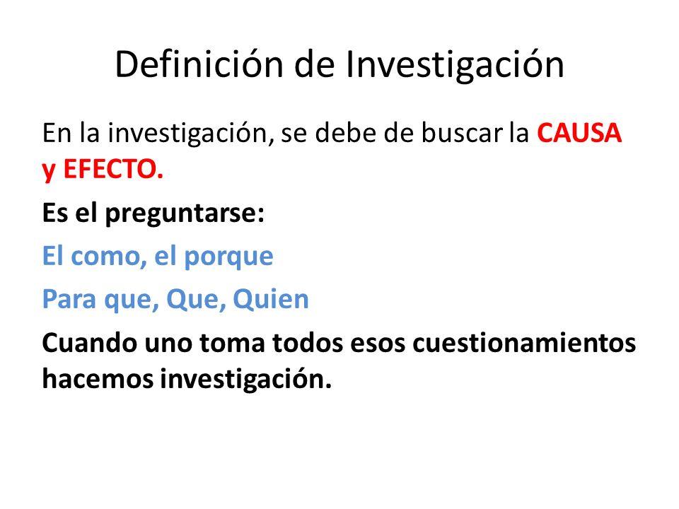 Definición de Investigación