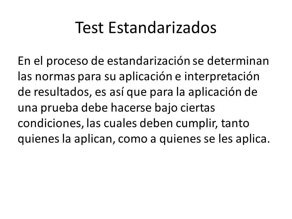 Test Estandarizados