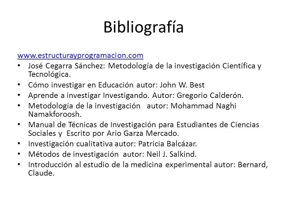 Bibliografía www.estructurayprogramacion.com