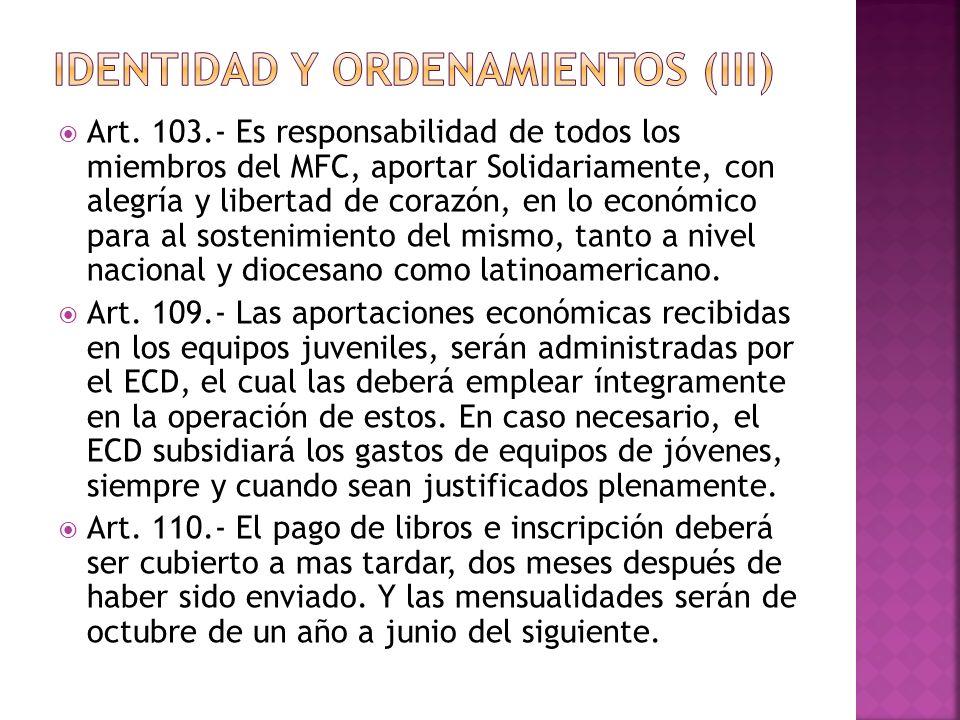 IDENTIDAD Y ORDENAMIENTOS (III)