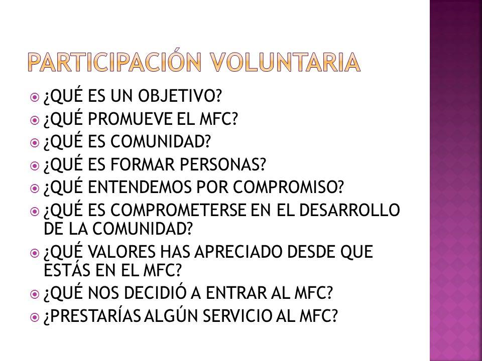 Participación voluntaria