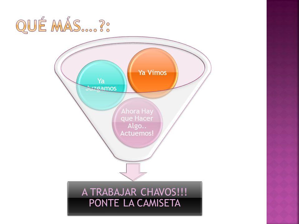 Qué más…. : A TRABAJAR CHAVOS!!! PONTE LA CAMISETA Ya Vimos