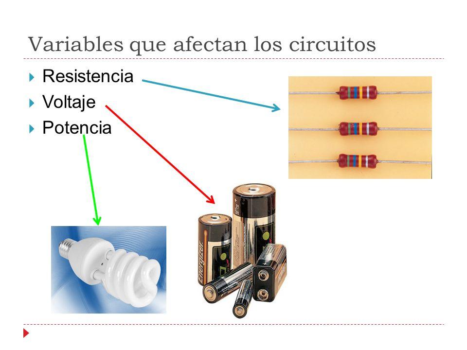 Variables que afectan los circuitos
