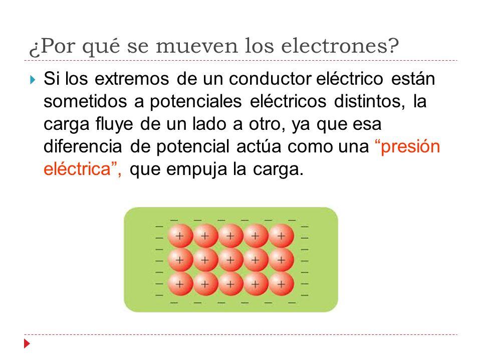 ¿Por qué se mueven los electrones