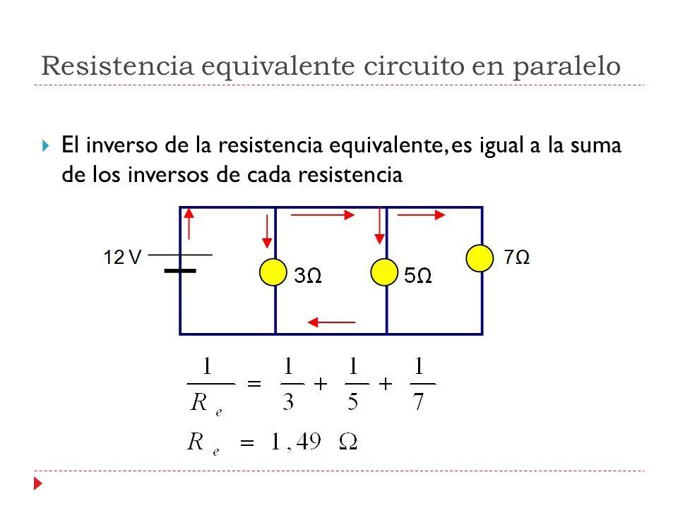 Resistencia equivalente circuito en paralelo
