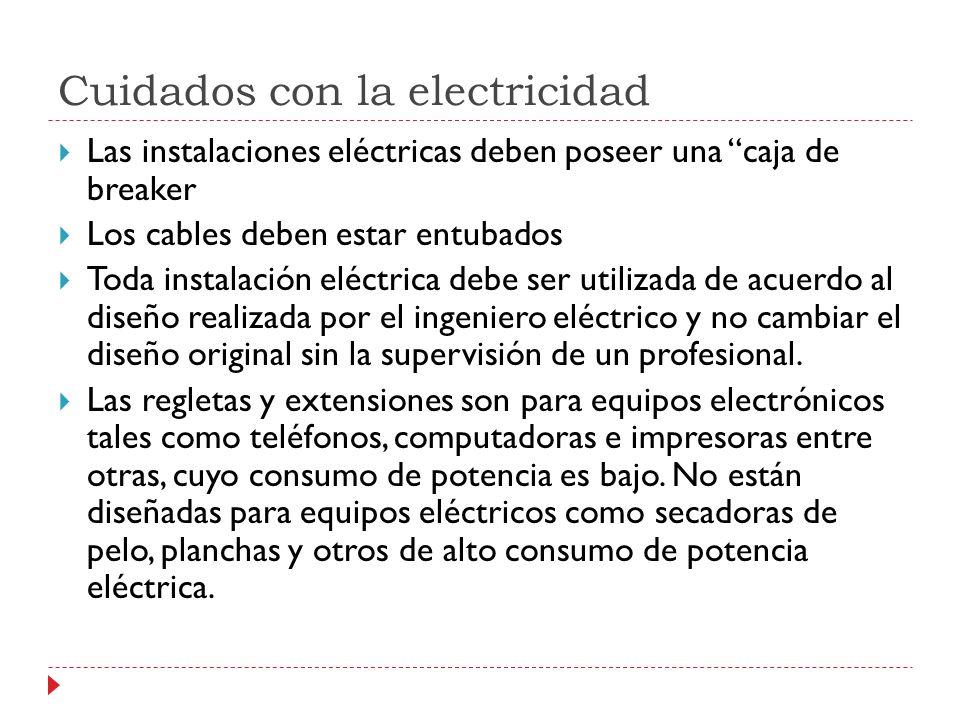 Cuidados con la electricidad