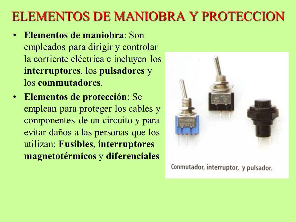ELEMENTOS DE MANIOBRA Y PROTECCION