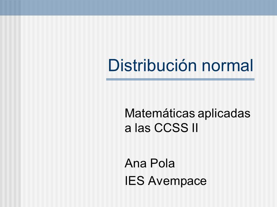 Matemáticas aplicadas a las CCSS II Ana Pola IES Avempace
