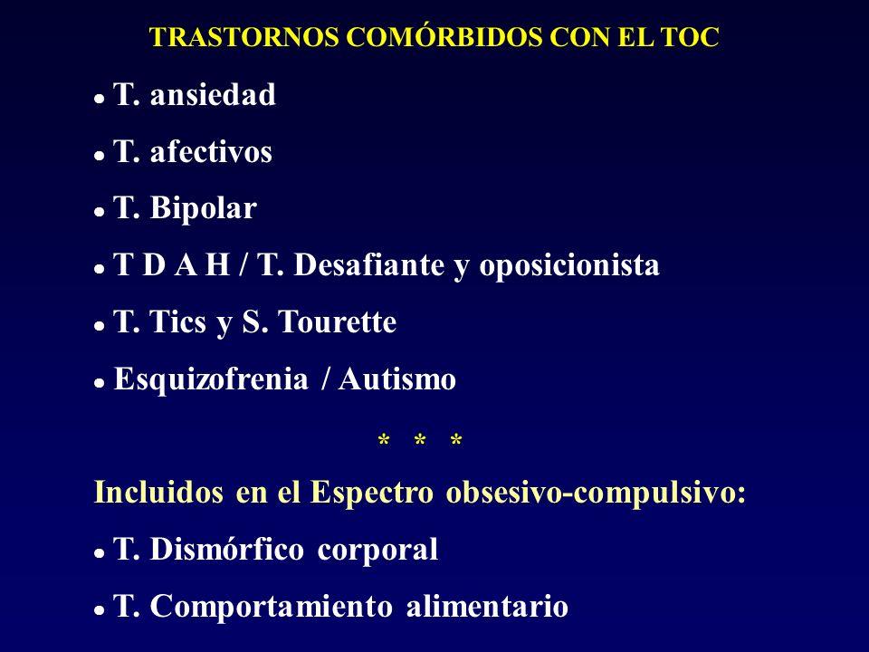 TRASTORNOS COMÓRBIDOS CON EL TOC