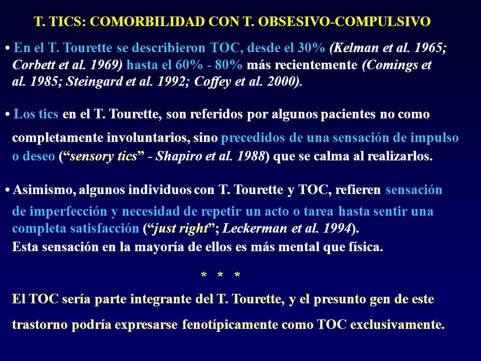 T. TICS: COMORBILIDAD CON T. OBSESIVO-COMPULSIVO