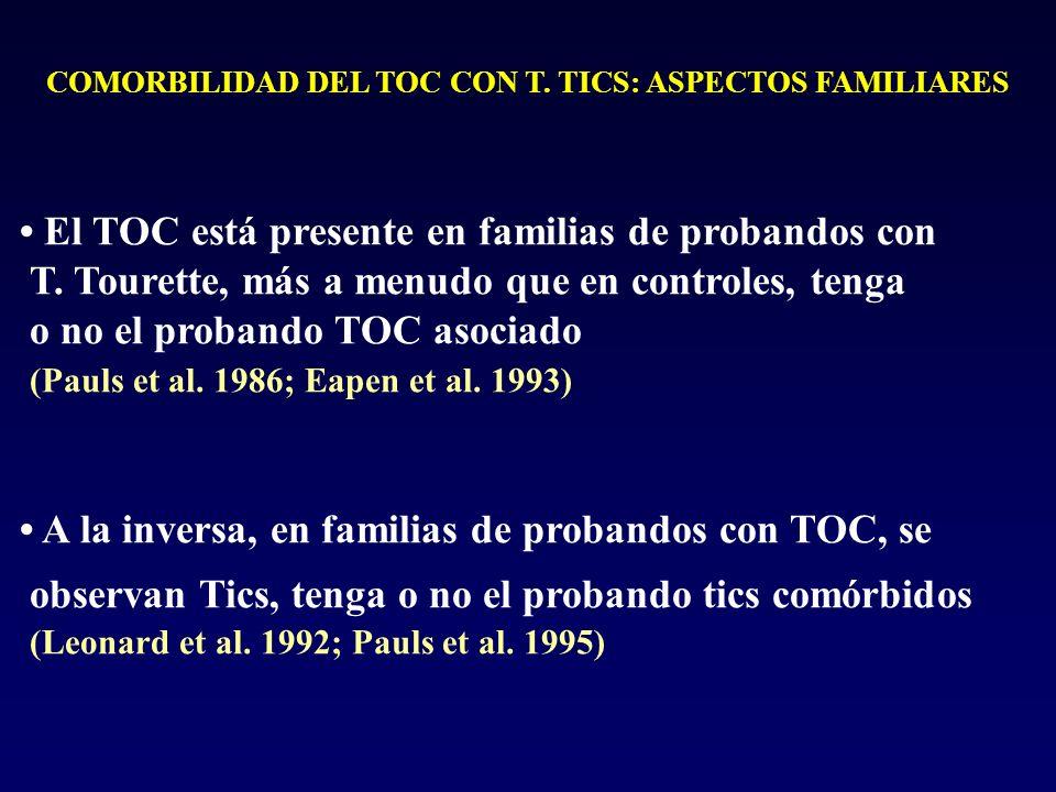 COMORBILIDAD DEL TOC CON T. TICS: ASPECTOS FAMILIARES
