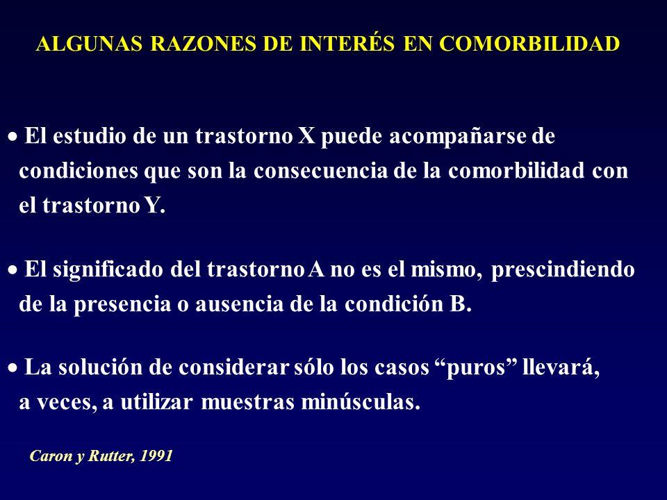ALGUNAS RAZONES DE INTERÉS EN COMORBILIDAD