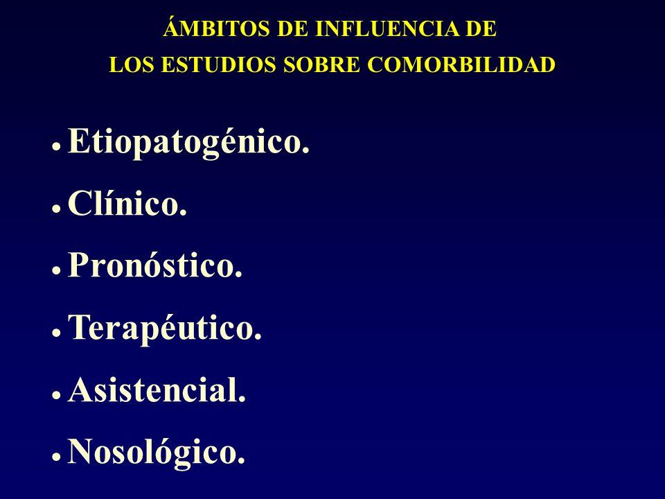 ÁMBITOS DE INFLUENCIA DE LOS ESTUDIOS SOBRE COMORBILIDAD