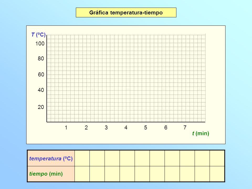 Gráfica temperatura-tiempo
