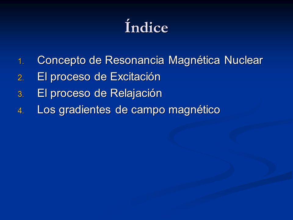 Índice Concepto de Resonancia Magnética Nuclear