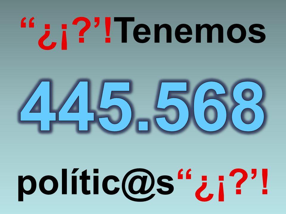 ¿¡ '!Tenemos 445.568 polític@s ¿¡ '!