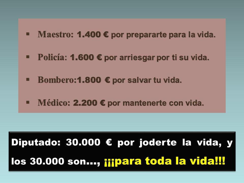 Maestro: 1.400 € por prepararte para la vida.