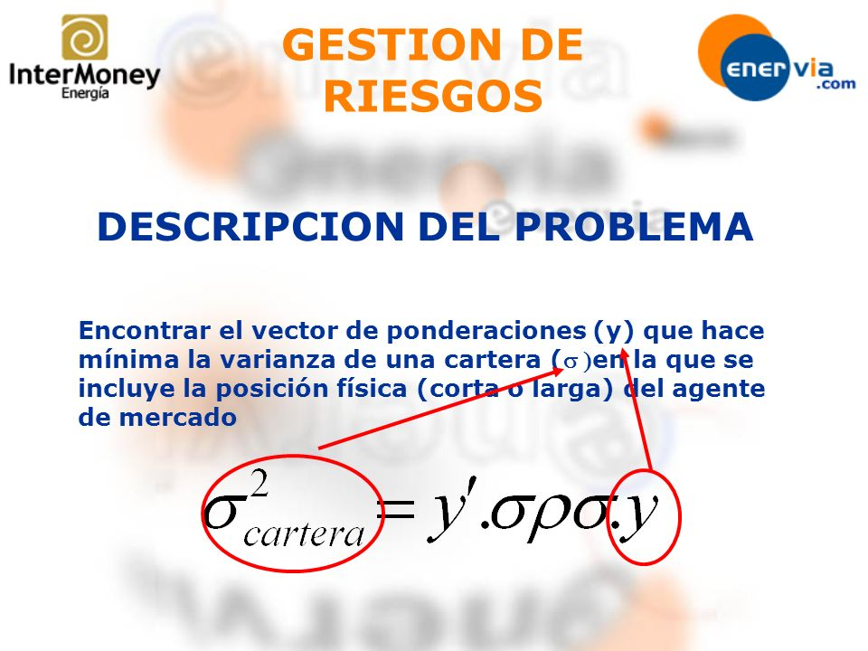 GESTION DE RIESGOS DESCRIPCION DEL PROBLEMA