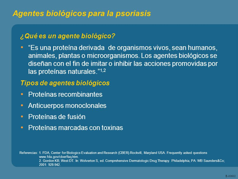 Agentes biológicos para la psoriasis