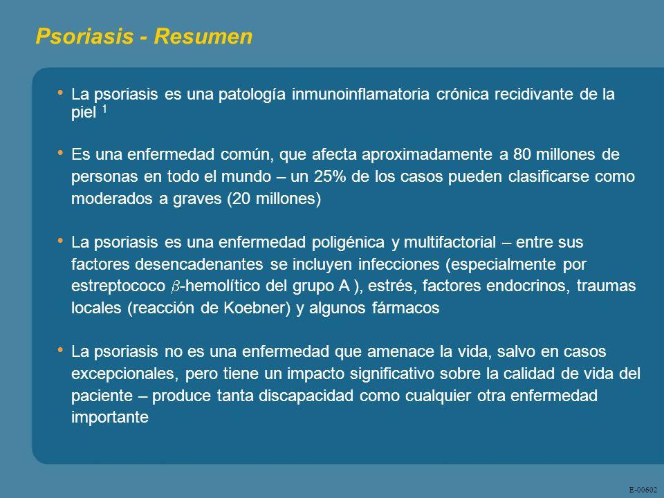 Psoriasis - Resumen La psoriasis es una patología inmunoinflamatoria crónica recidivante de la piel 1.