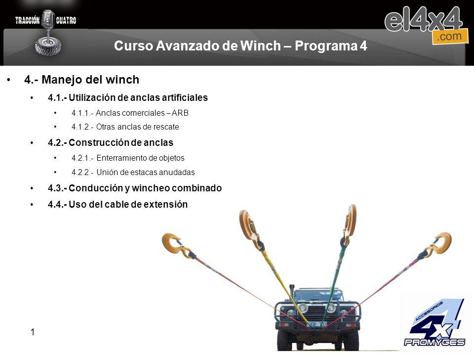 Curso Avanzado de Winch – Programa 4