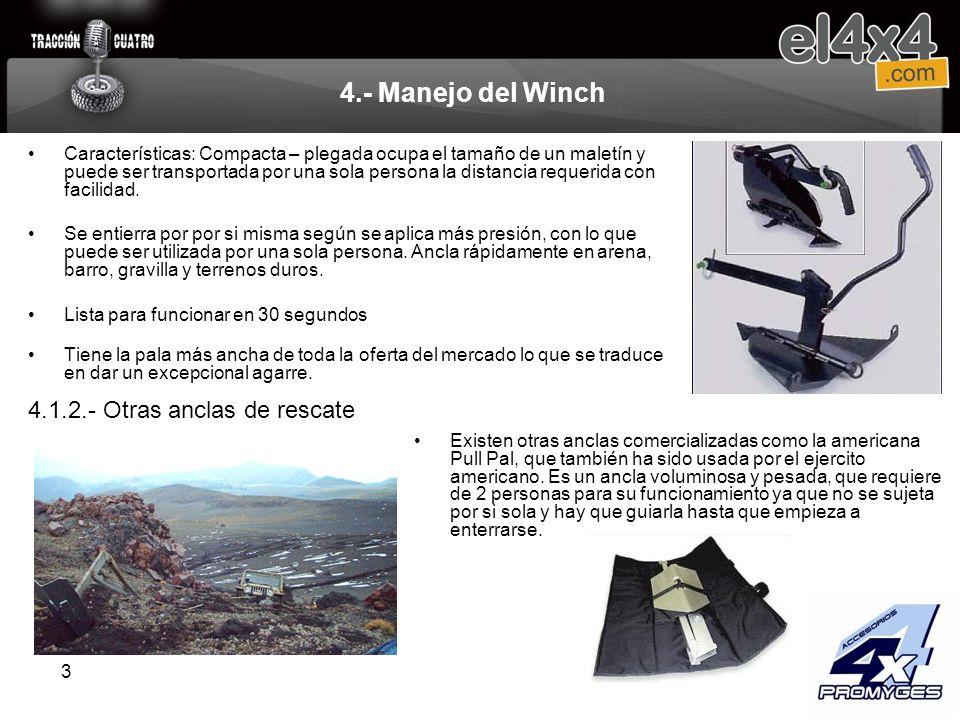4.- Manejo del Winch 4.1.2.- Otras anclas de rescate