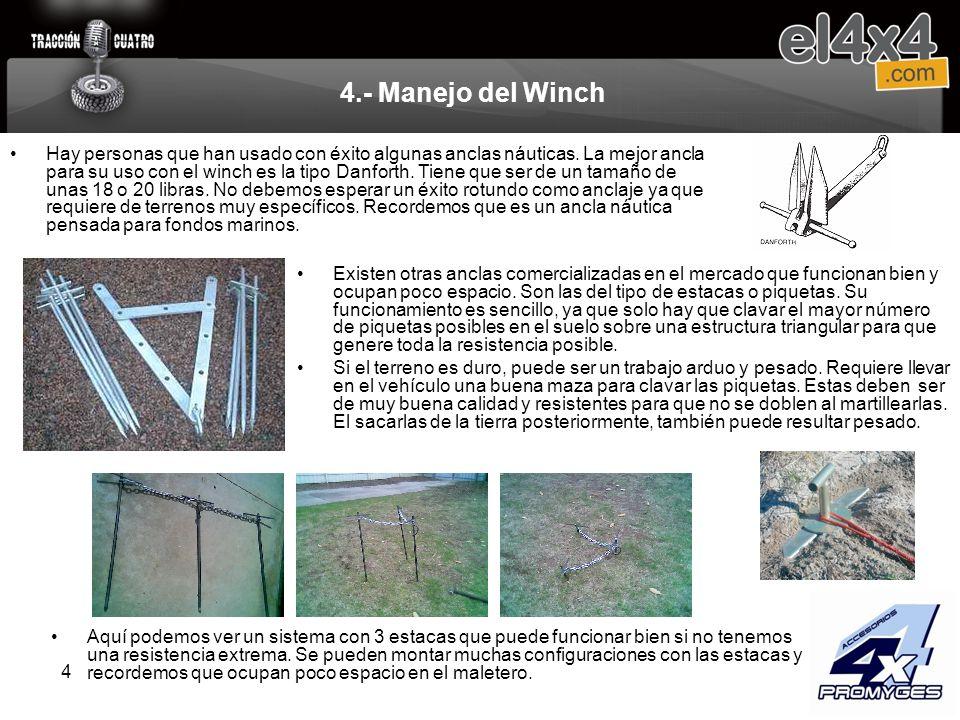 4.- Manejo del Winch