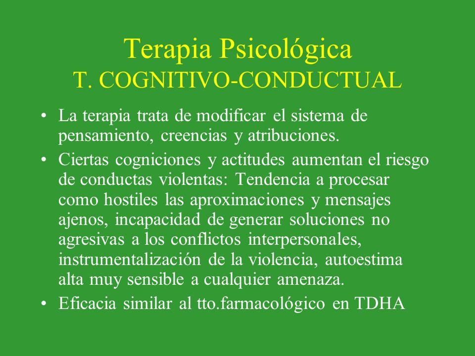Terapia Psicológica T. COGNITIVO-CONDUCTUAL