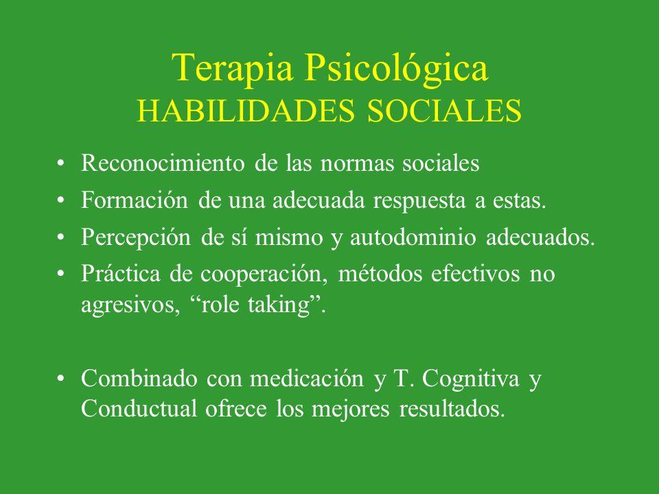 Terapia Psicológica HABILIDADES SOCIALES