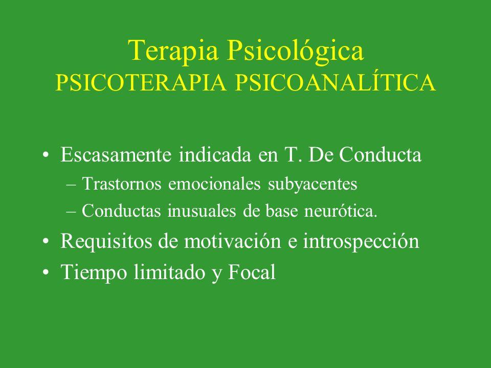 Terapia Psicológica PSICOTERAPIA PSICOANALÍTICA