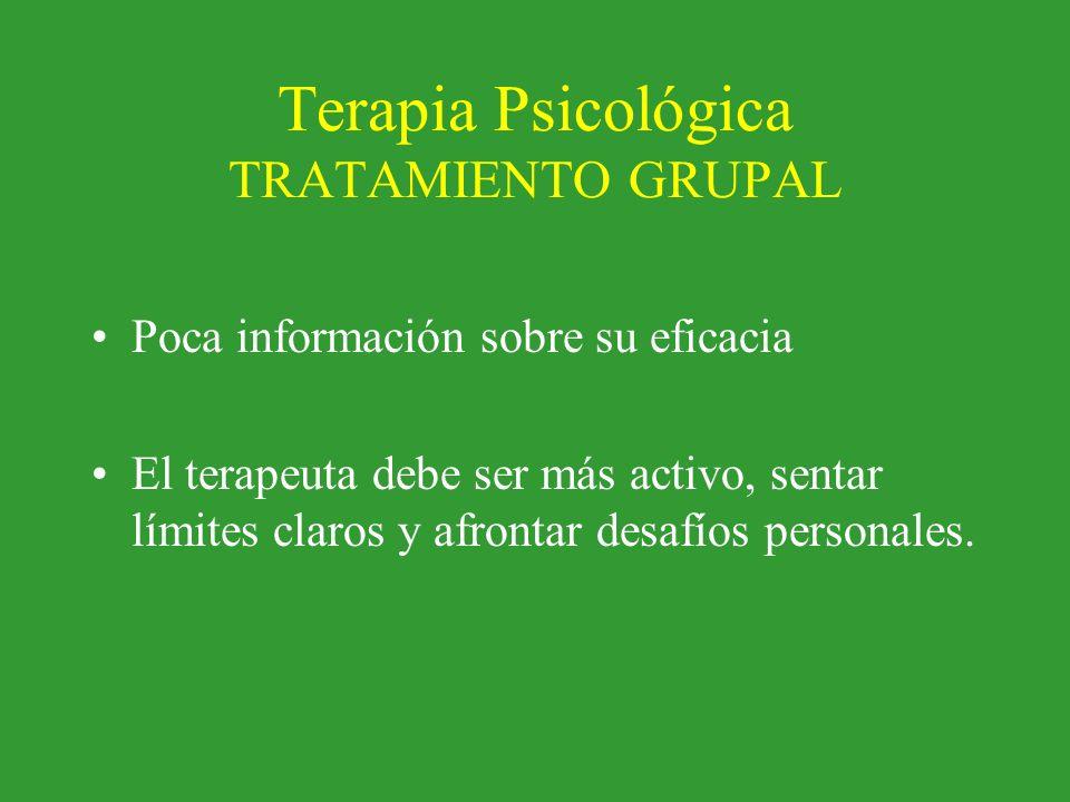Terapia Psicológica TRATAMIENTO GRUPAL