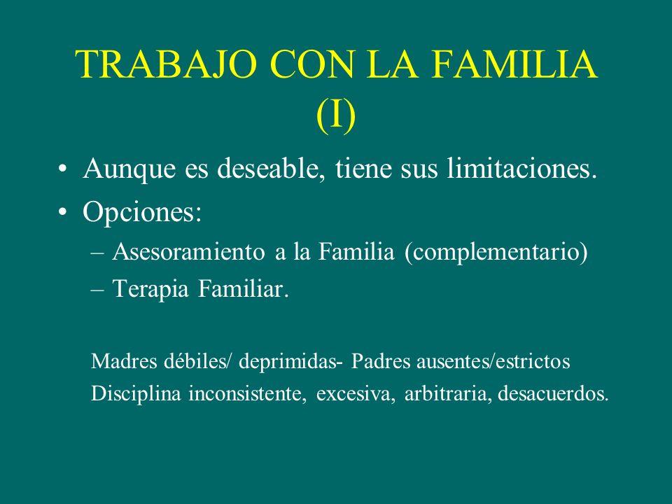 TRABAJO CON LA FAMILIA (I)