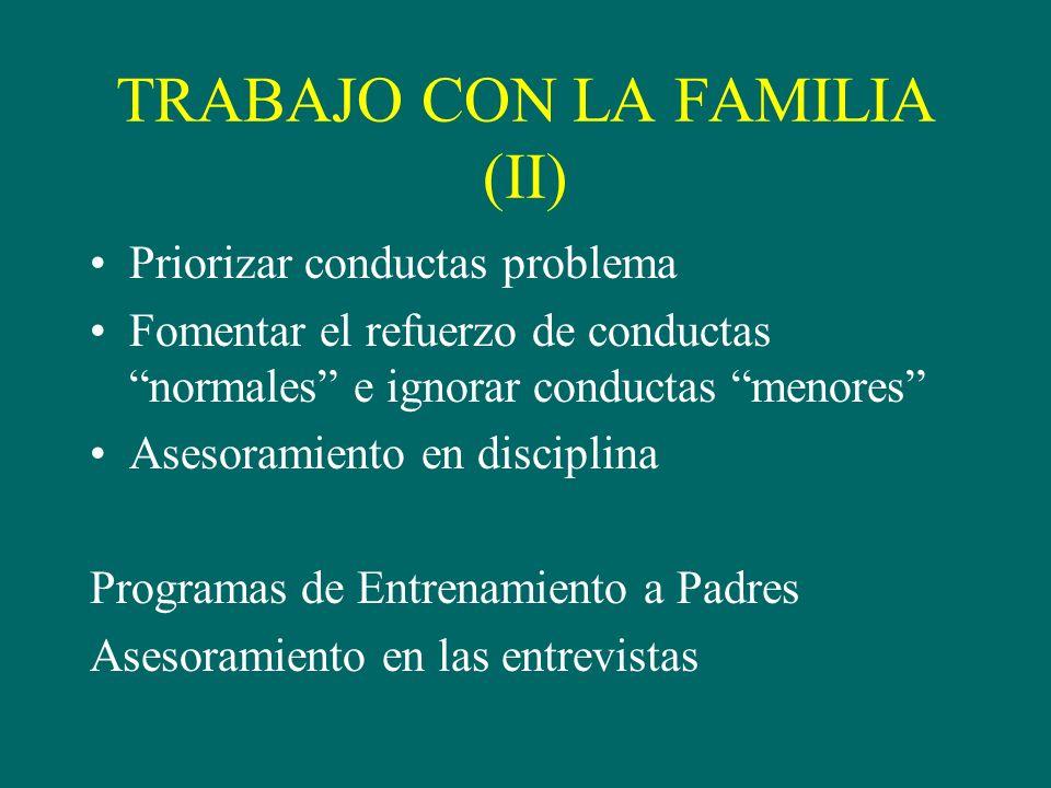 TRABAJO CON LA FAMILIA (II)