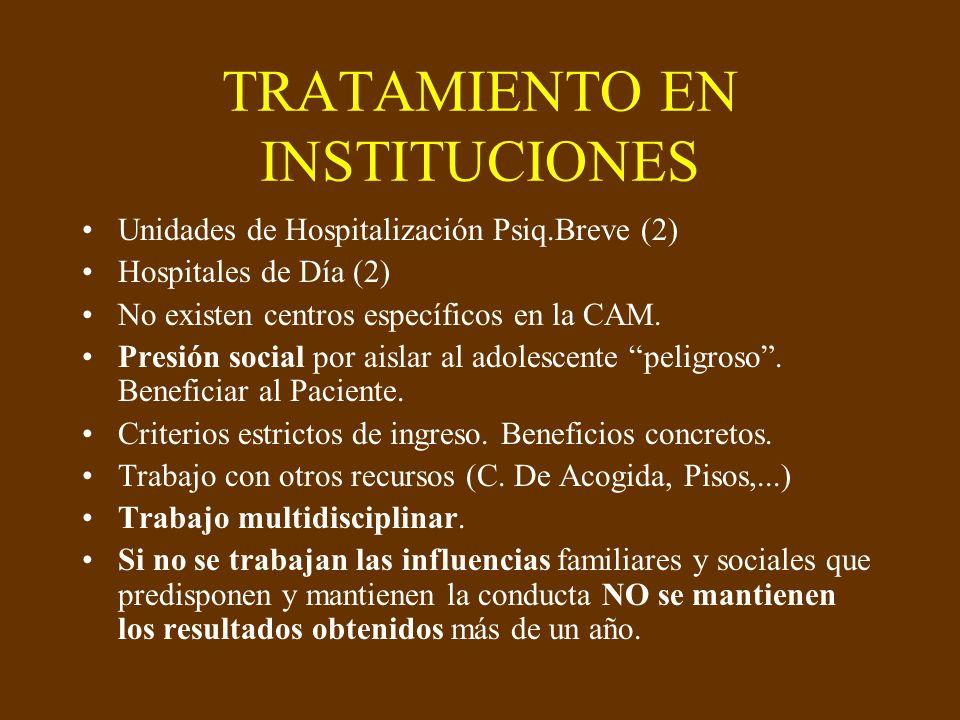 TRATAMIENTO EN INSTITUCIONES